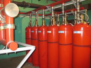 Образец монтажа модуля системы газового пожаротушения